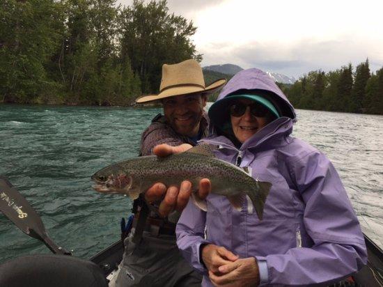 Cooper Landing, Аляска: First fish ever!