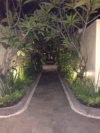 RC Villas & Spa: The beautiful walkway that takes you to your villa.