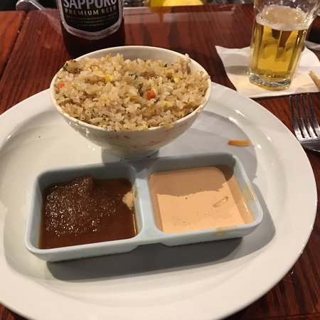Lakewood, CA: Rice with dips