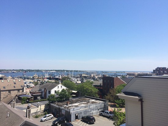 Fairfield Inn & Suites New Bedford: New Bedford Harbor from Whaling Museum roof.