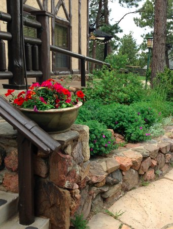 Boettcher Mansion: Landscaping By The Front Door Steps