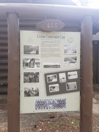 Boyne City, MI: Interesting sign of history of park