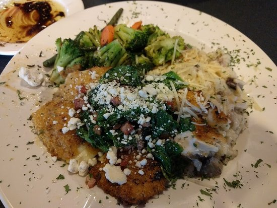 Marshall, MN: Pistachio crusted tilapia with mushroom risotto