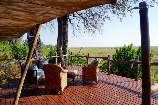 Linyanti Reserve, بوتسوانا: Deck area