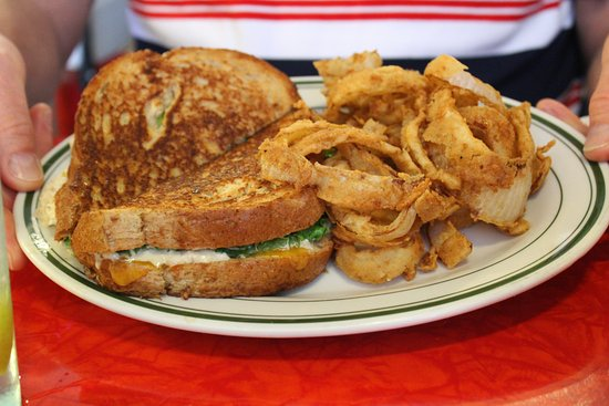 Aiken, SC: Tuna melt with onion rings (so tasty)