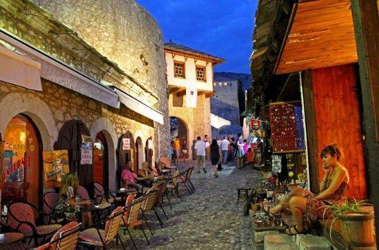 Mostar-Kaffeepause zwischen Ochsen...