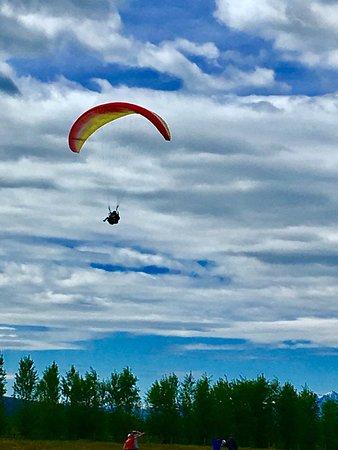 Teton Village, WY: Paragliding