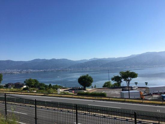 Nagano Prefecture, Japan: 諏訪湖SA下りからの眺め