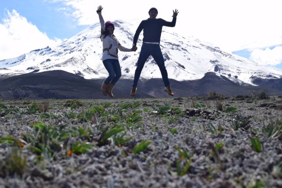 Chimborazo Province, Ecuador: Celebrando un cumpleaños en el magnifico Nevado Chimborazo a 5100 m.s.n.m.