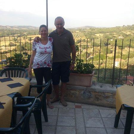 Montemerano, إيطاليا: terrazza di questo ristorante