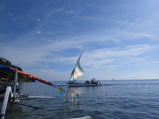 Bali Bhuana Beach Cottages: Fishing boat