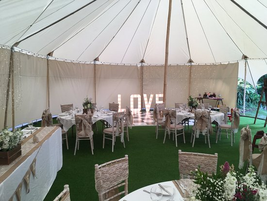 Sellack, UK: Marquee