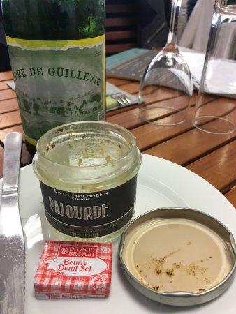 Plouguerneau, France: terrine et cidre