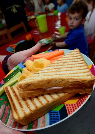 Sale, UK: Cheese and ham toastini, a favourite from our kids menu
