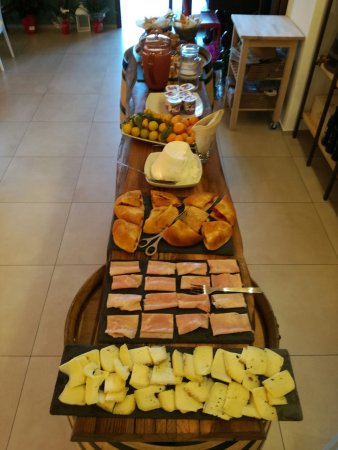 Buffet breakfast with salty and sweet food