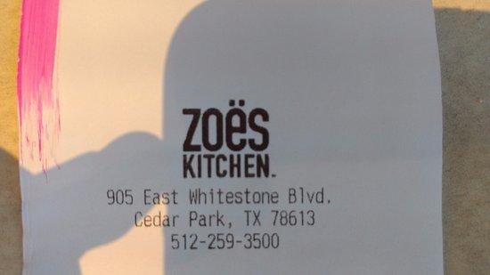 Cedar Park, TX: Zoes Kitchen