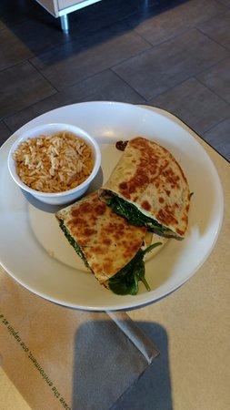 Cedar Park, TX: Spinach Mushroom Pladina with Rice Plate - Yummy