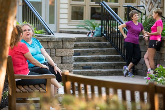 Hilton Head Health: Our courtyard is a great place to relax and chat with new friends.