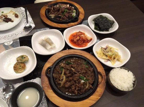 beef bulgogi and marinated beef bulgogi as formal dinners