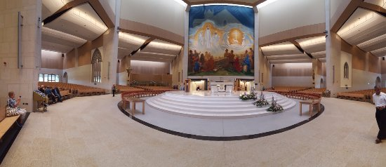 Knock, Ireland: Panoramic view of the Basilica's inside