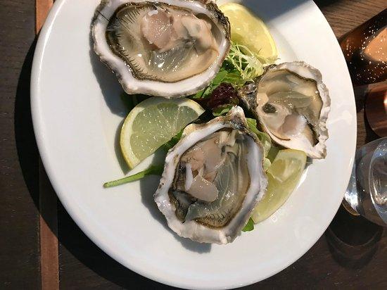 Alderley Edge, UK: Freshly shucked oysters