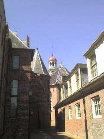 Assen, The Netherlands: Museumlaantje leads to Museum buildings - just around the corner