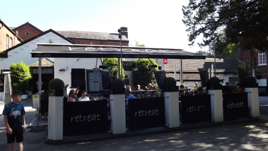 Outside seating area - Picture of Retreat Grill, Bar and Restaurant, Bolton - Tripadvisor