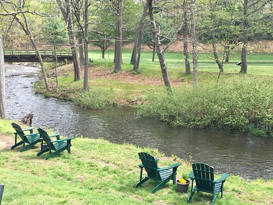 Naugatuck, CT: Relax on our adirondack chairs overlooking the brook!