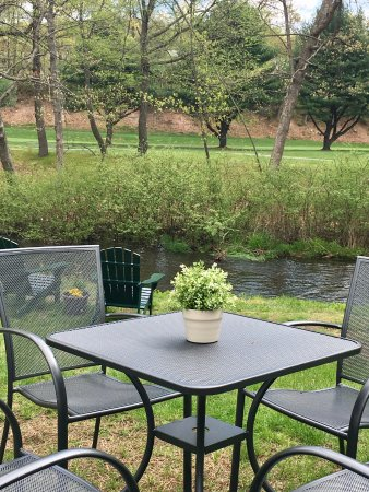 Naugatuck, CT: How about a brookside table for dinner?