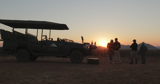 Sunset drinks stop during game drive in the Madikwe Game Reserve