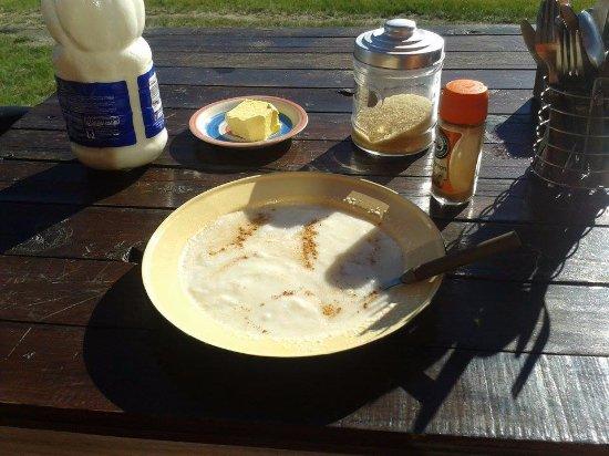Hogsback, Sudáfrica: Mealie Meal Breakfast