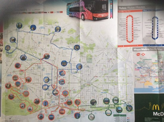 Map of bus routes Picture of Barcelona Bus Turistic Barcelona