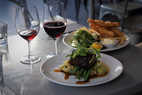Gaston : Crispy Fish and Char grilled steak with Colconnen Mash