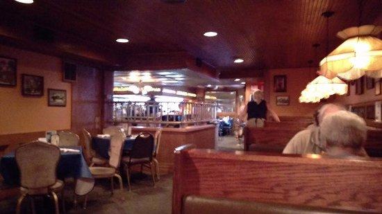 Marion, IA: Inside view towards bar