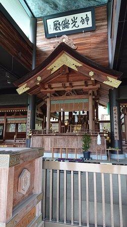 Kasama, Japan: 拝殿の中