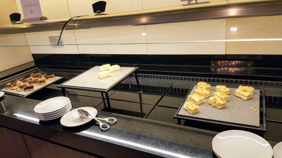 Executive lounge, pastries at afternoon tea