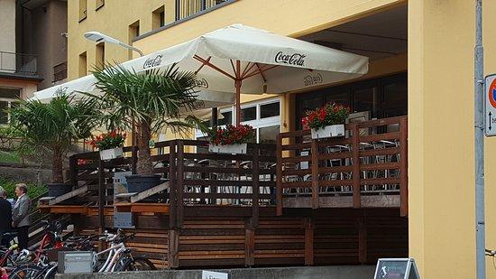 Romanshorn, Switzerland: Terrasse des Ristorante