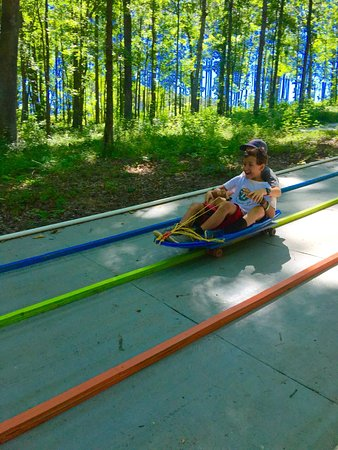 Creedmoor, NC: 300 foot slides!  Hold On!