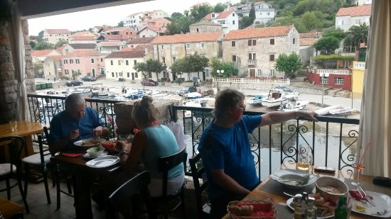 Sali, Kroatia: Terrace and the view :)
