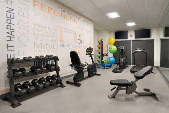 Nampa, ID: Fitness room with self guided pilates/yoga bar.