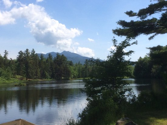 Jeffersonville, VT: View of Mt. Mansfield and the Pond