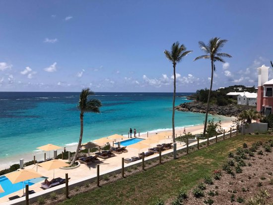 Tucker's Town, Islas Bermudas: views of the beach access from pool area from room 216