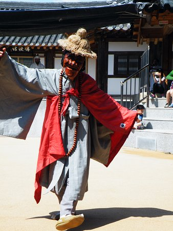 Andong, South Korea: spectacle des masques