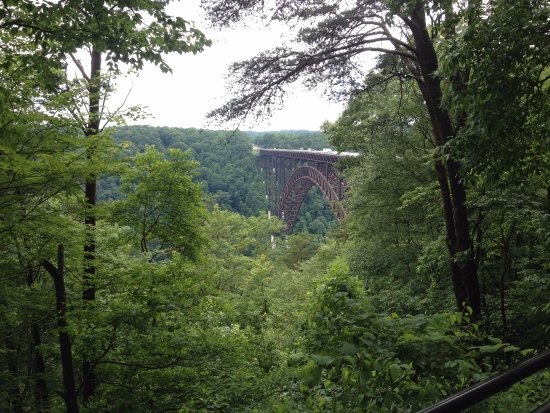 New River Gorge: At the top of the visitor center staircase