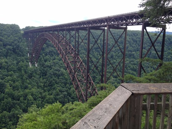 New River Gorge: At the bottom of the visitor's center staircase