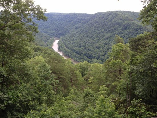 New River Gorge: View from inside the visitor's center