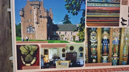 Banchory, UK: Brochure Highlights of the Castle - Note Painted Ceilings on the Right