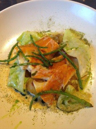 Correncon-en-Vercors, Frankrijk: Christivomer en carpaccio et haddock