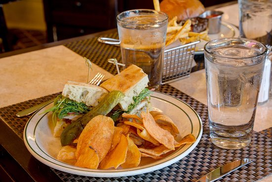 Hot Springs, VA: Choose from a selection of sandwich options for lunch.