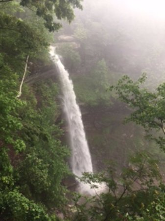 Haines Falls, NY: upper falls from lookout at top